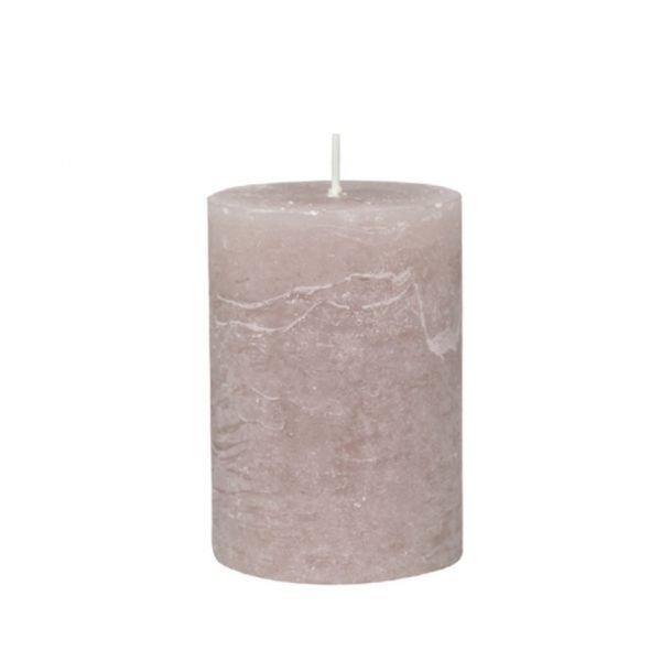 Taupe Pillar Candle 10cm