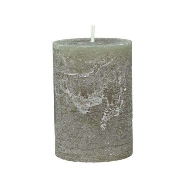 Olive Pillar Candle 10cm