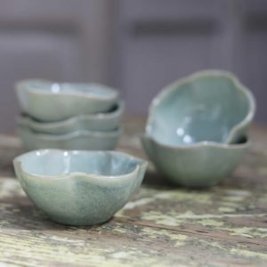 Capri Scalloped Bowl - Soft Green