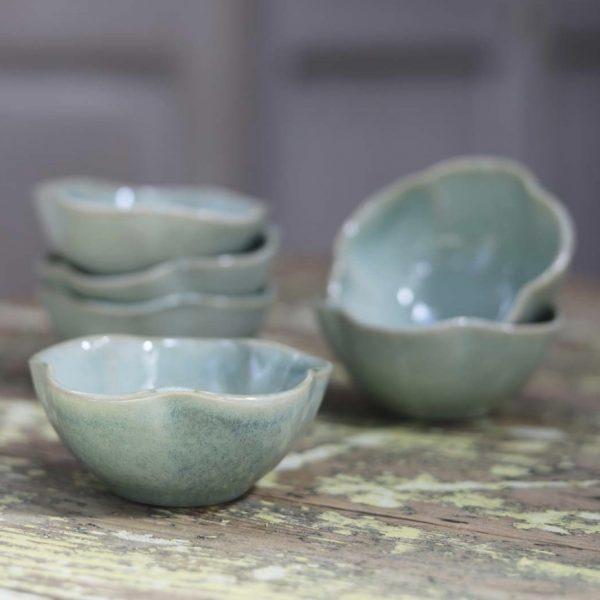 Capri Scalloped Bowl - Soft Green