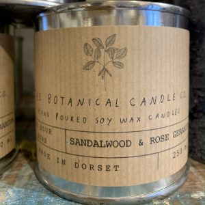 Sandalwood & Rose Botanical Candle Tin