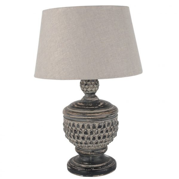 Antique Black Lamp with Shade