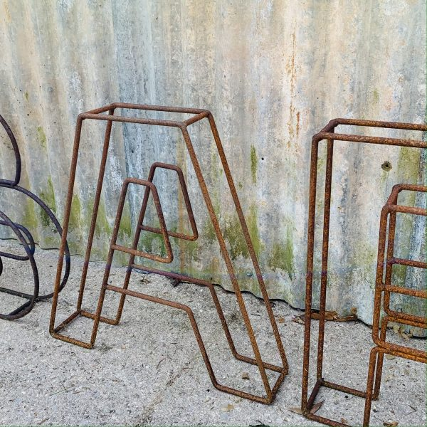 Standing Rusty Letters