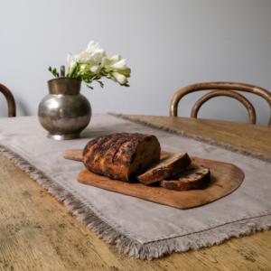 Linen Tassel Table Runner