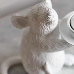 White Mouse Candleholders
