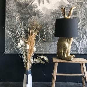Antique Gold Rabbit Ears Lamp