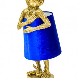 Antique Gold Bashful Monkey Table Lamp