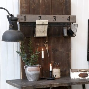 Wall Rack with Baskets