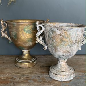 Scroll Handle Footed Urn