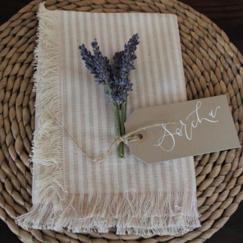 Lavender Sprig Place setting