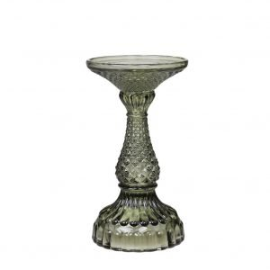 Tall Olive Green Candlestick