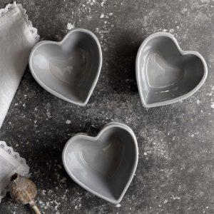 Grey Heart Bowl