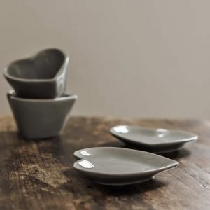 Grey Heart Dish