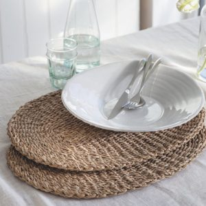 Seagrass Oval Placemats Set of 2
