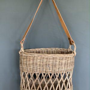 Rattan Flower Basket with Handle