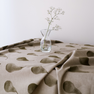 Pear Tablecloth Khaki Green
