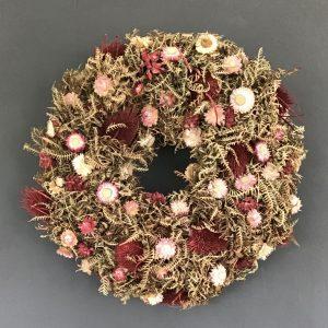 Dried Strawflower Wreath