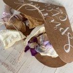 Natural Petal Confetti Filled Heart Cone
